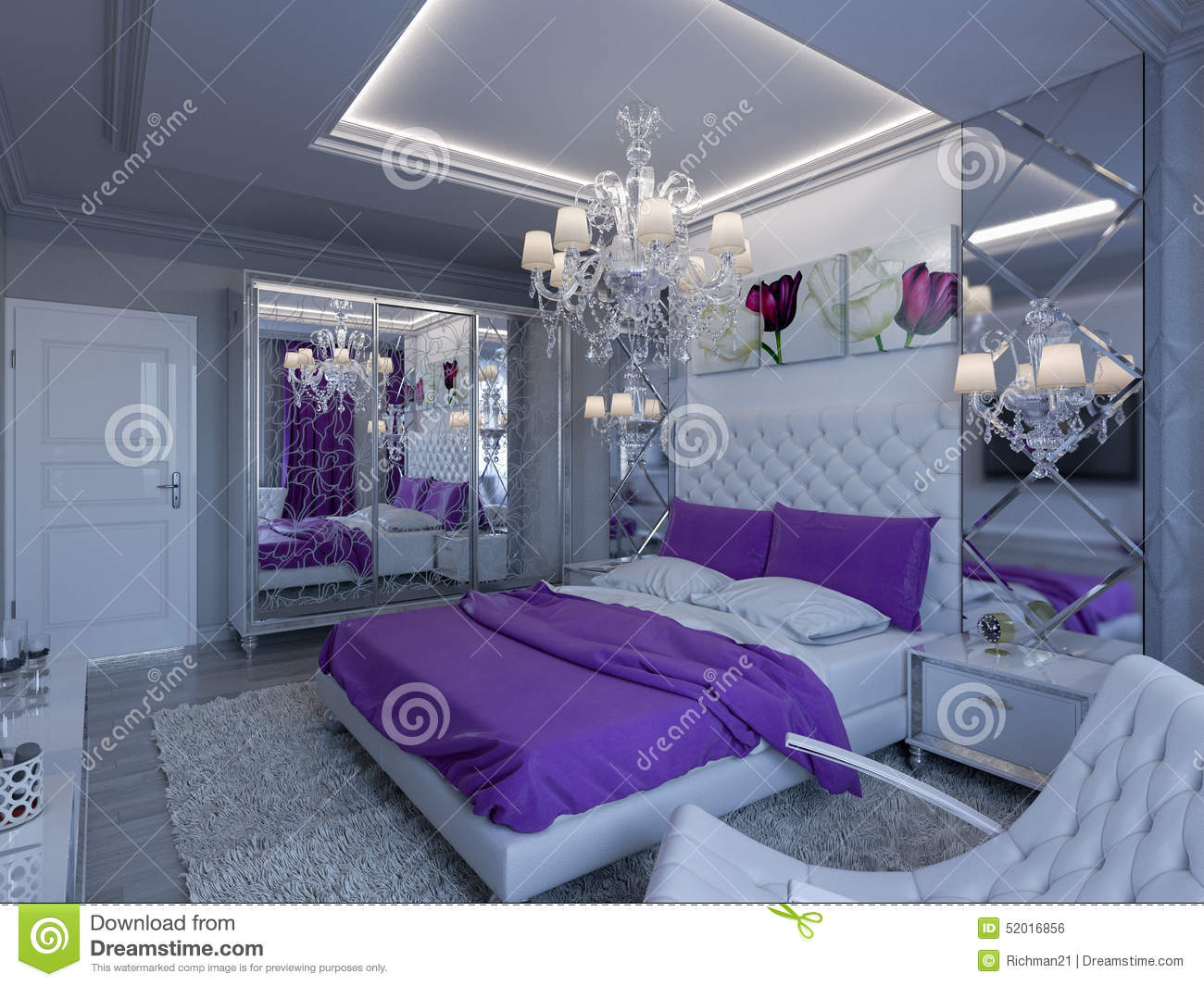 grey white purple bedroom accents illustrations amp vector stock images 15509