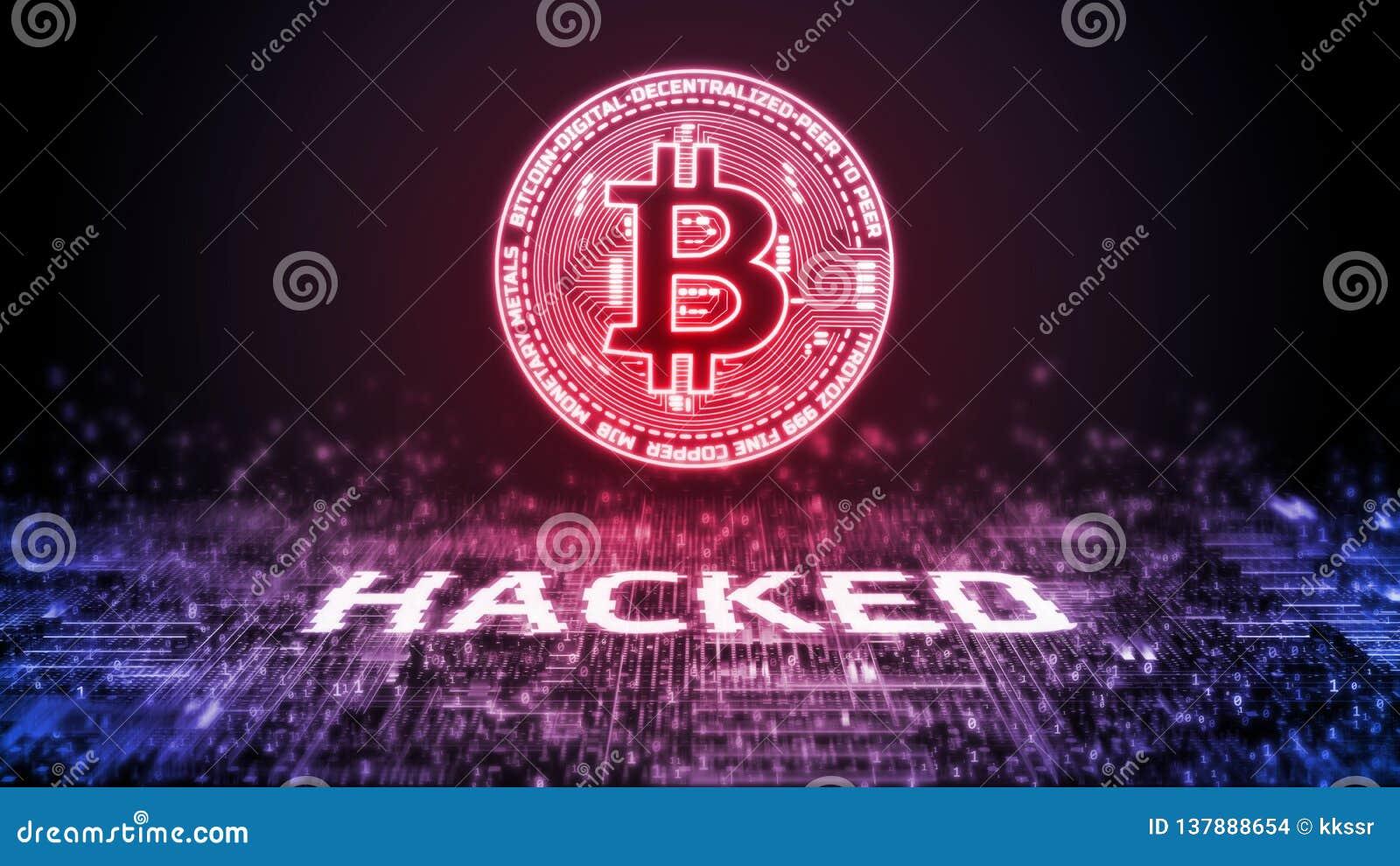 3D rendering bitcoin BTC siekał nad cyfrowym binarnym tłem Crypto waluta, rynek wymiana, handlarska platforma