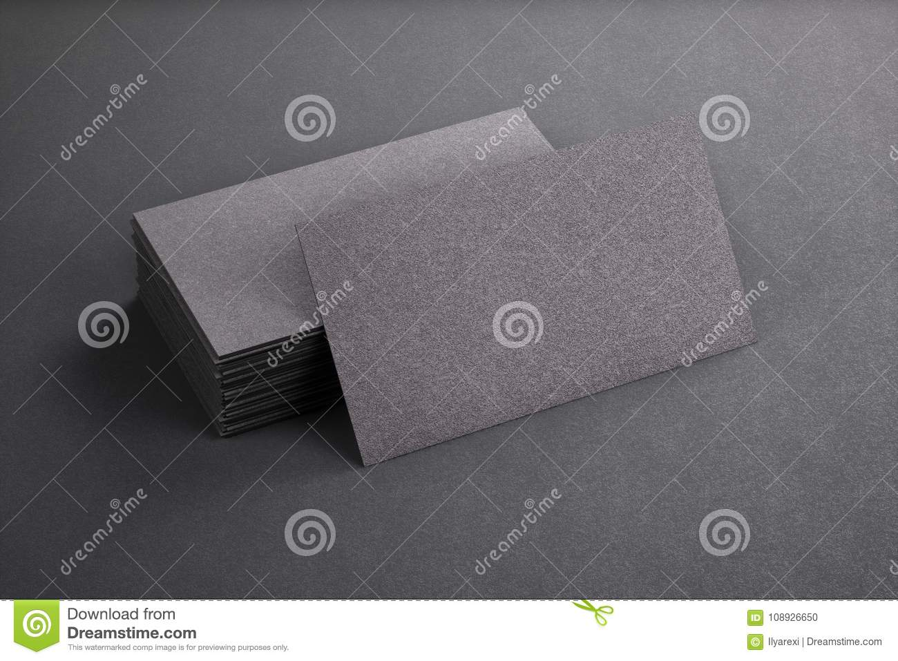 3d rendering of business card blank template black business car 3d rendering of business card blank template black business car accmission Gallery