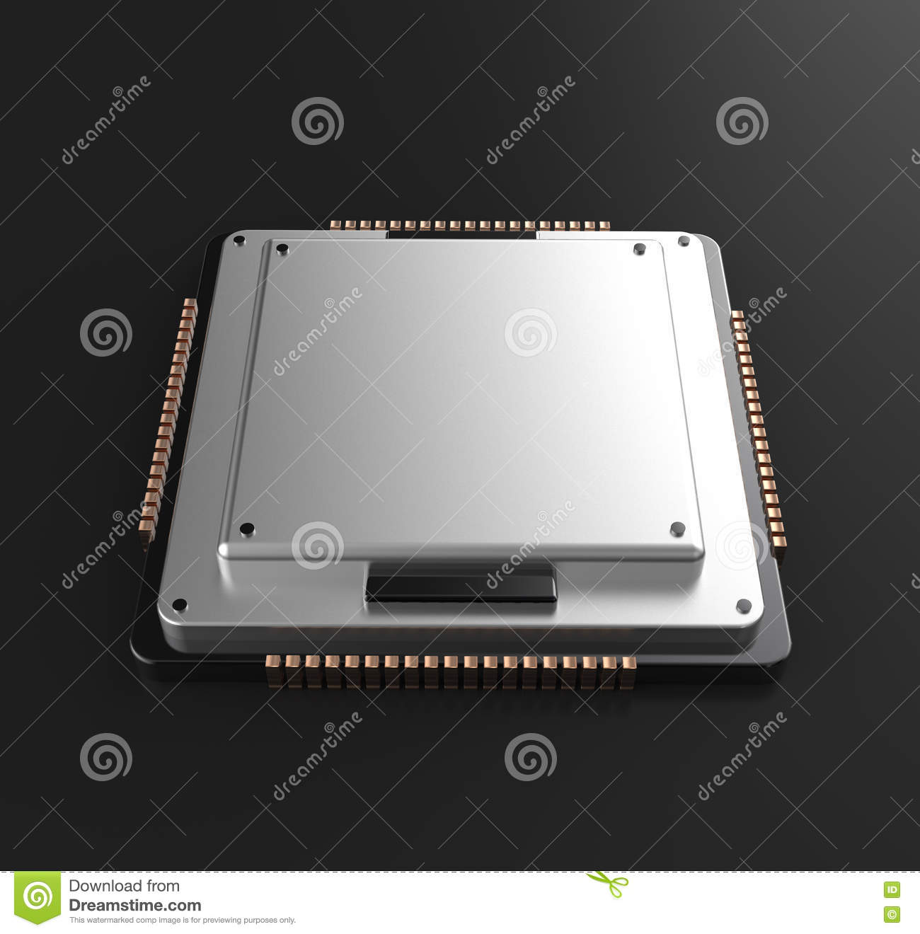 3d rendering of Central Computer Processors CPU
