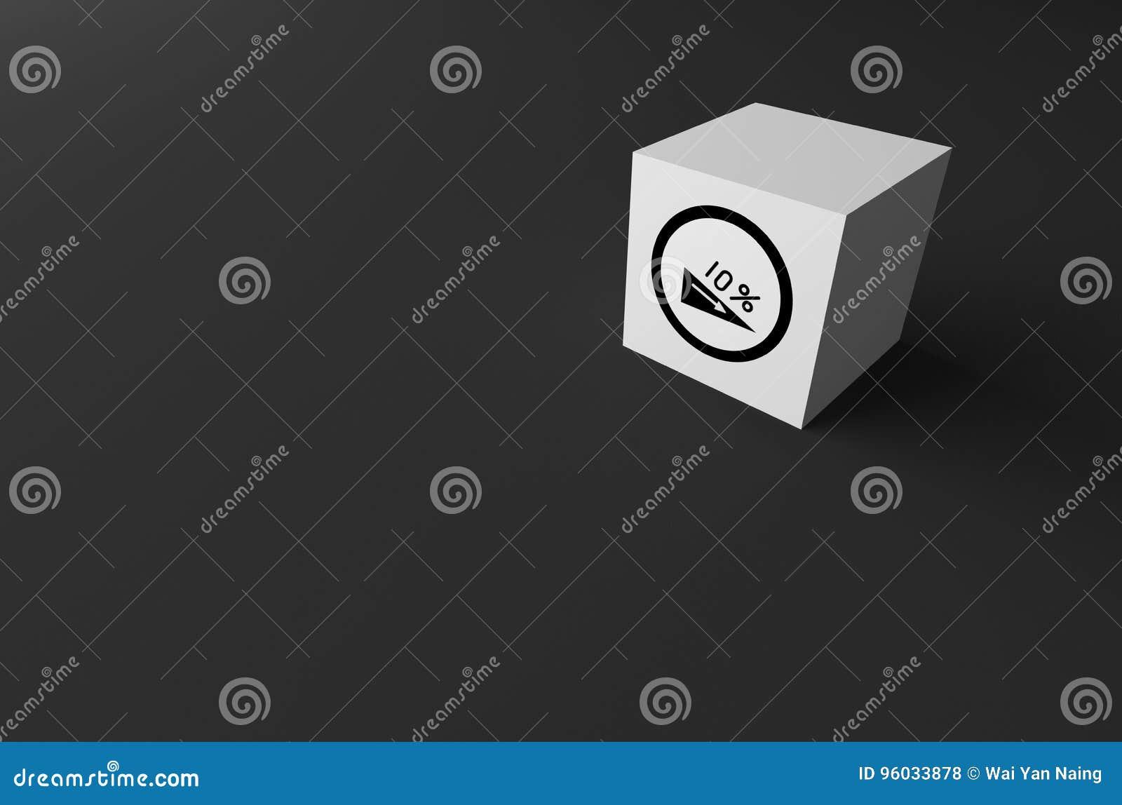 3D rendering DROGOWY znak DALEJ