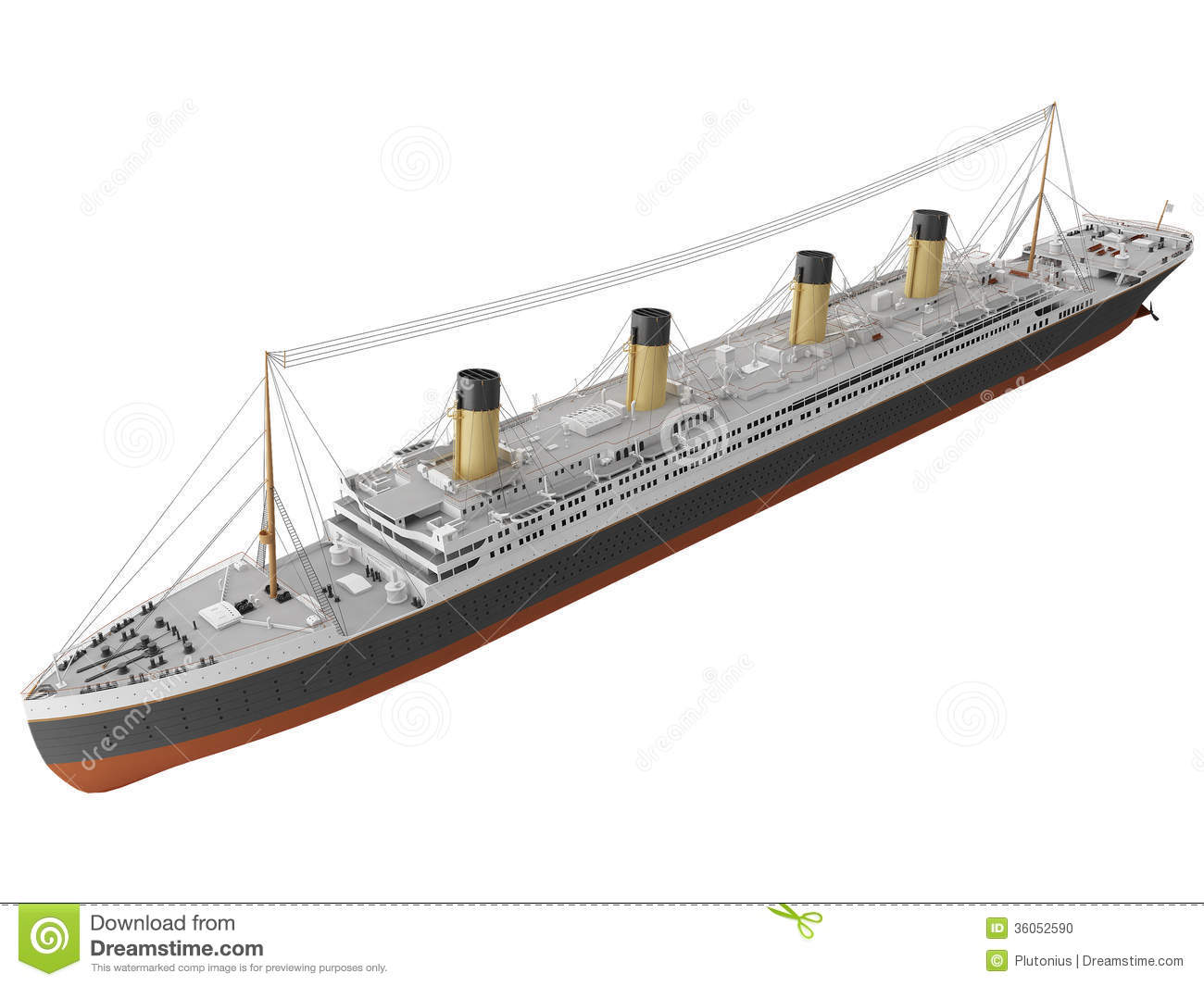 3d Rendering Of A Early 1900s Steamliner Stock Photo - Image: 36052590