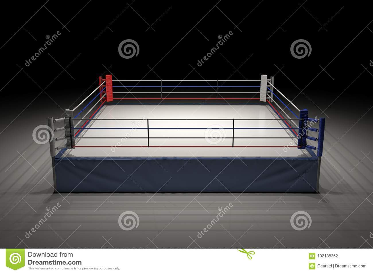 3d rendering of an empty boxing ring in the dark with its center download 3d rendering of an empty boxing ring in the dark with its center spotlighted ccuart Images