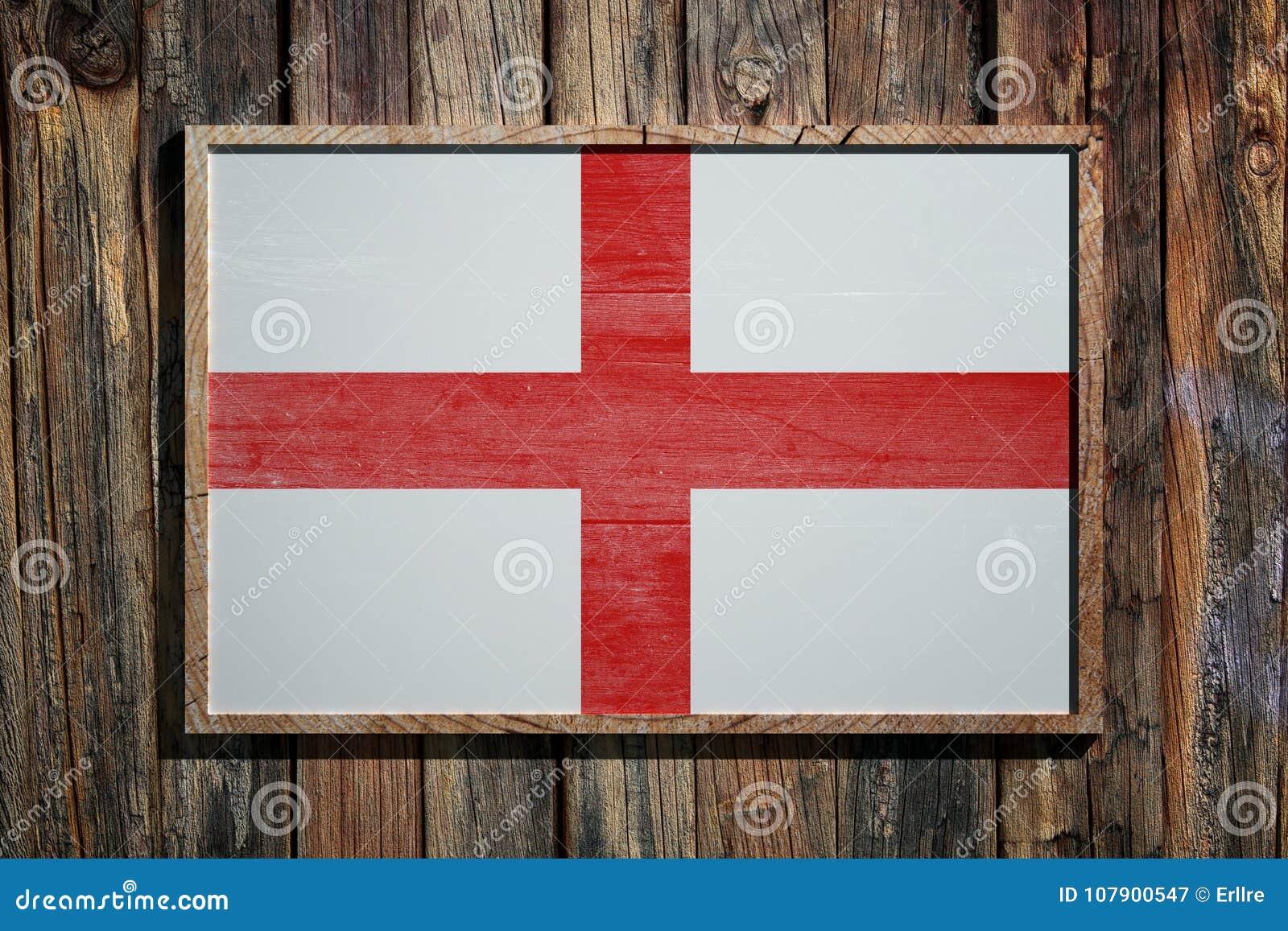 Wooden England flag stock illustration. Illustration of wood - 107900547