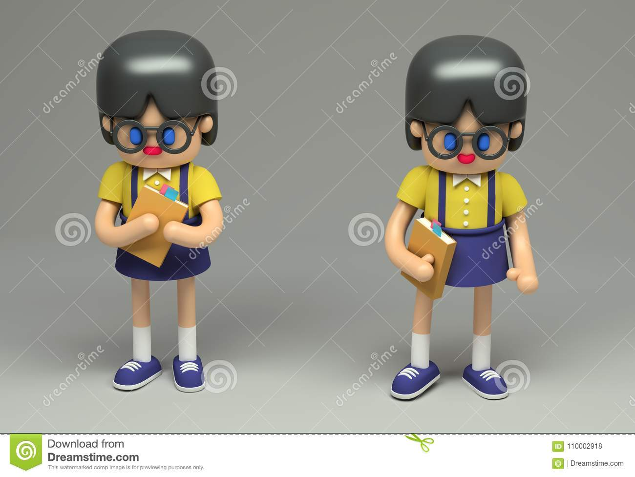 Female Cartoon Characters With Black Hair And Glasses-8225