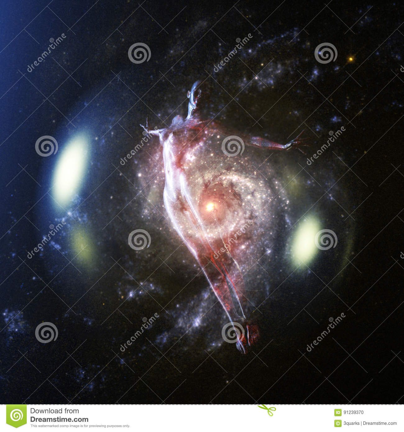 3D Rendering of a Female - Elements by NASA