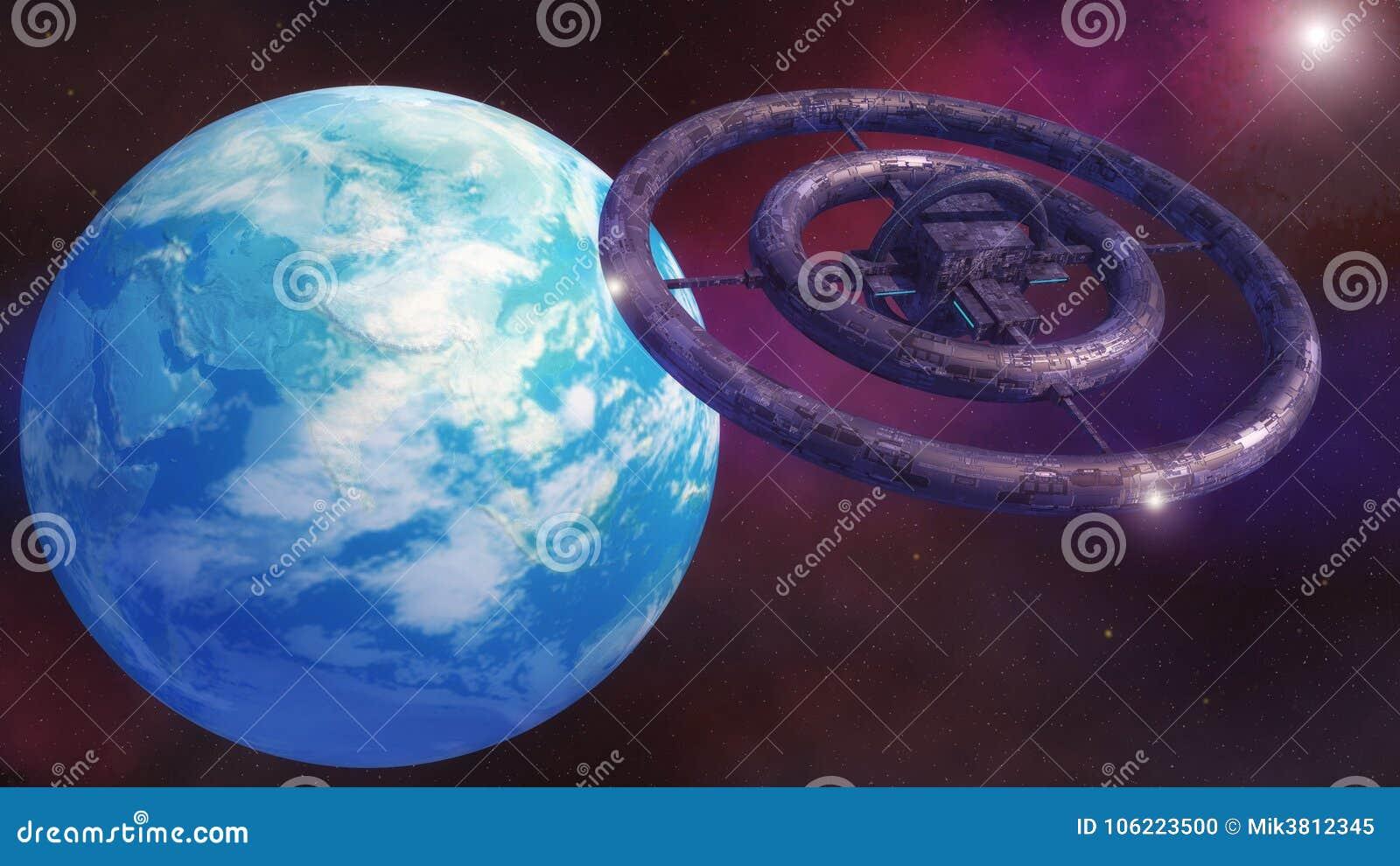 Futuristic alien Spaceship