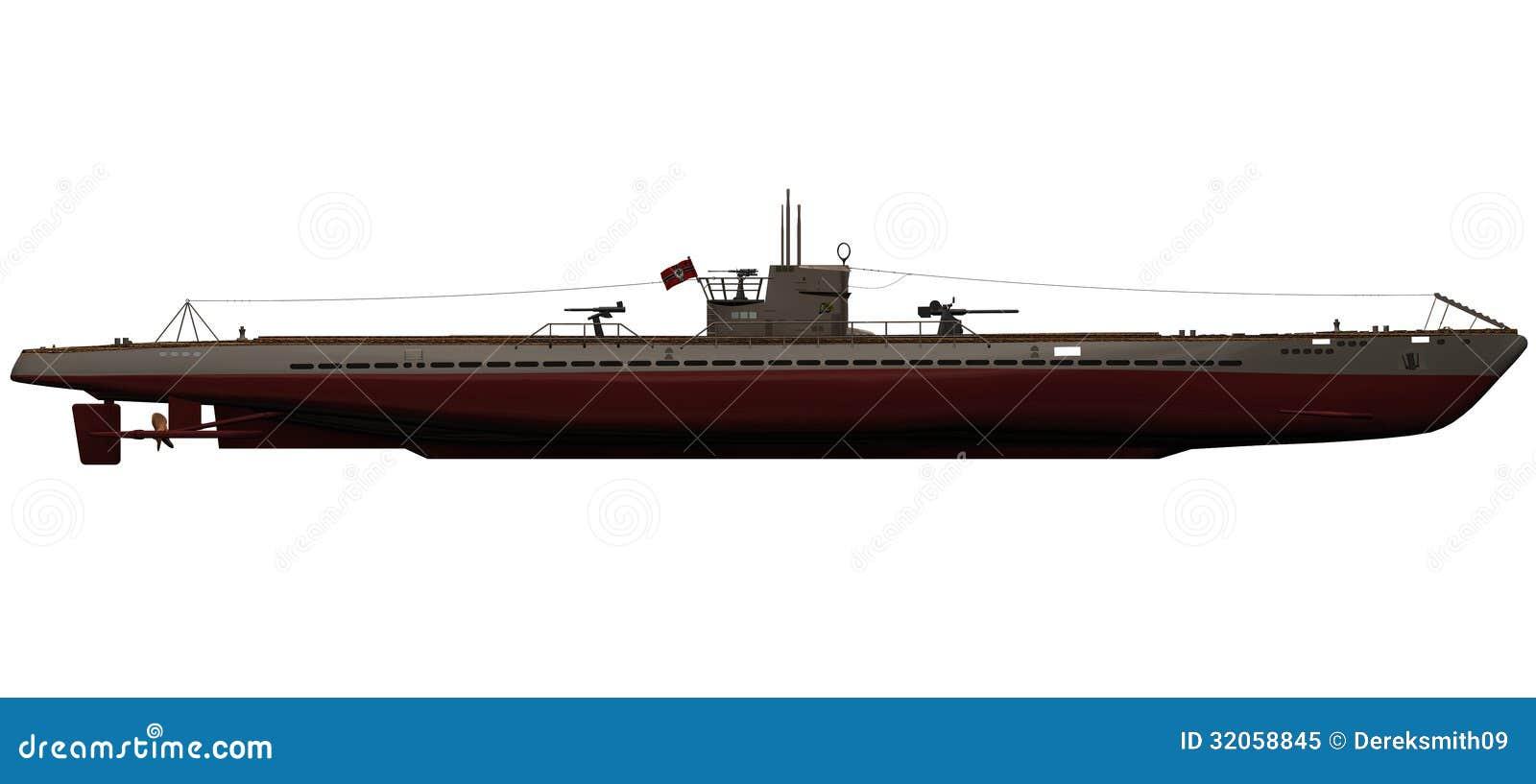 ... Of A German IX-B U-Boat Royalty Free Stock Photo - Image: 32058845