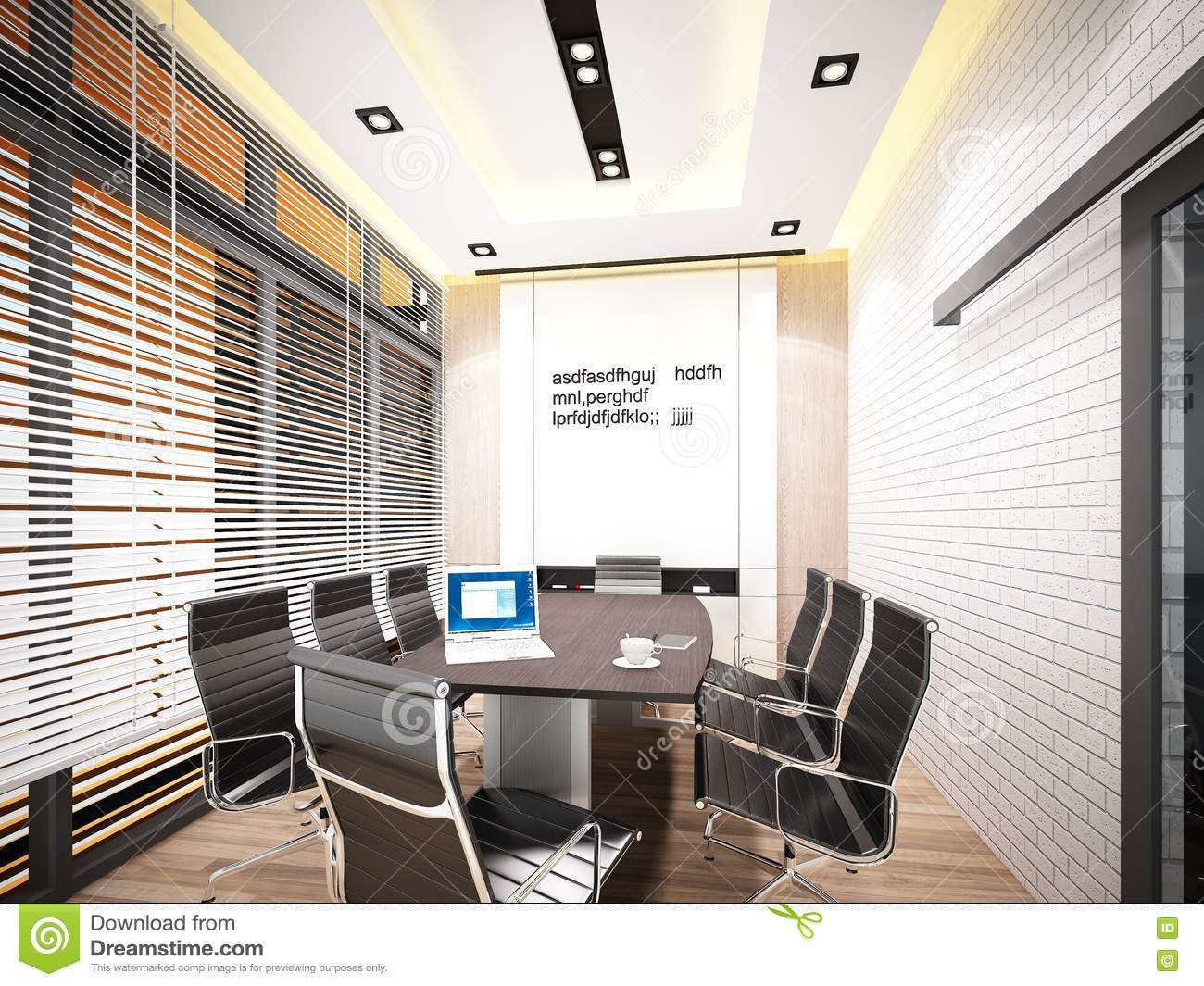 3d Rendering Of Interior Conference Room Stock