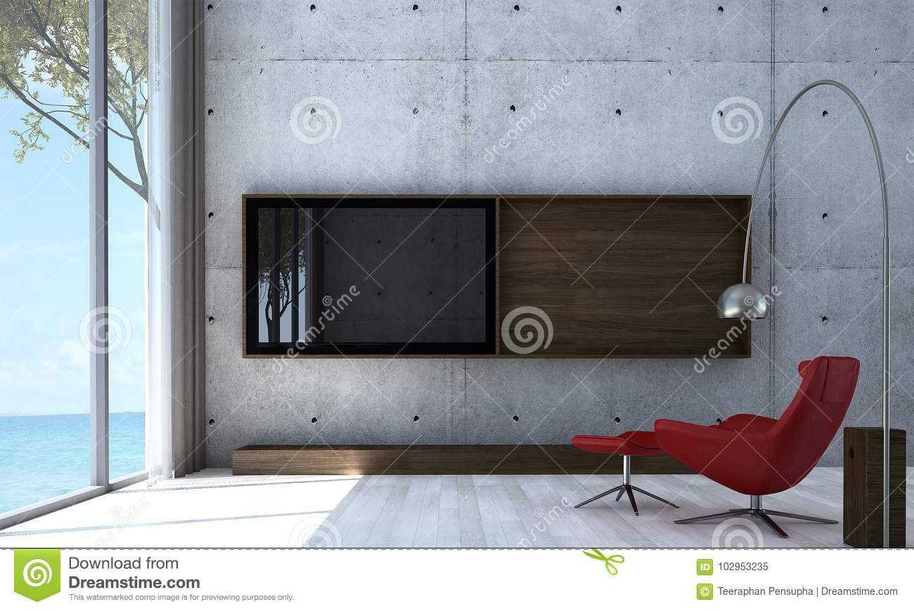 3d rendering interior design concept idea of lounge and living room