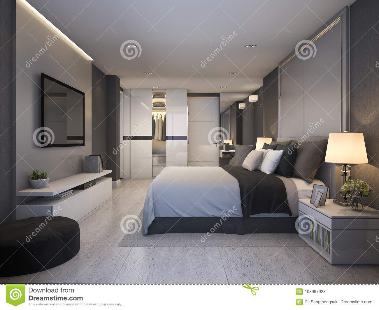 marvellous modern style hotel room bathroom 3d house free | 3d Rendering Beautiful Luxury Bedroom Suite In Hotel With ...