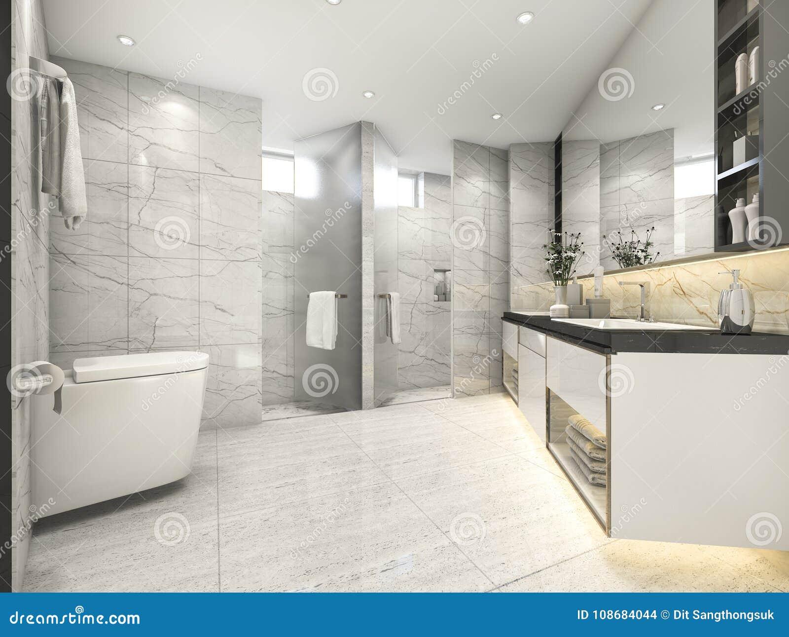 3d Rendering Cream Modern Vintage Bathroom With Luxury Tile Decor Stock Illustration Illustration Of Modern Bathtub 108684044