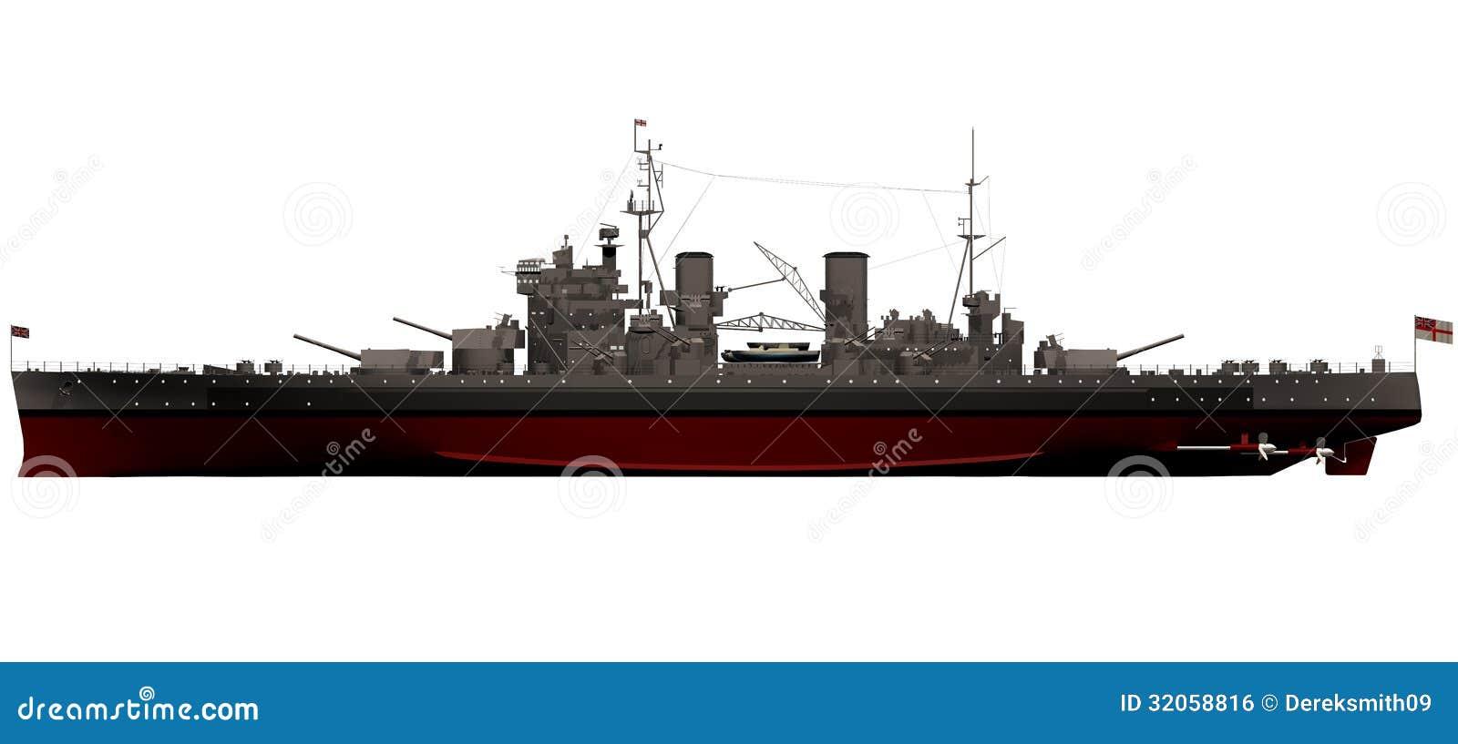 3d Rendering Of The King George V Battleship
