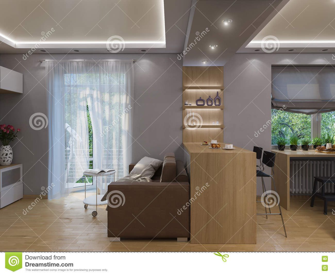 3d rendering living room interior design stock 3d room interior