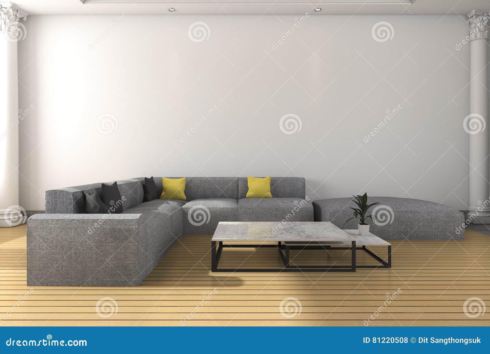 Awesome 3D Rendering Long Sofa Set In White Classic Living Room Inzonedesignstudio Interior Chair Design Inzonedesignstudiocom