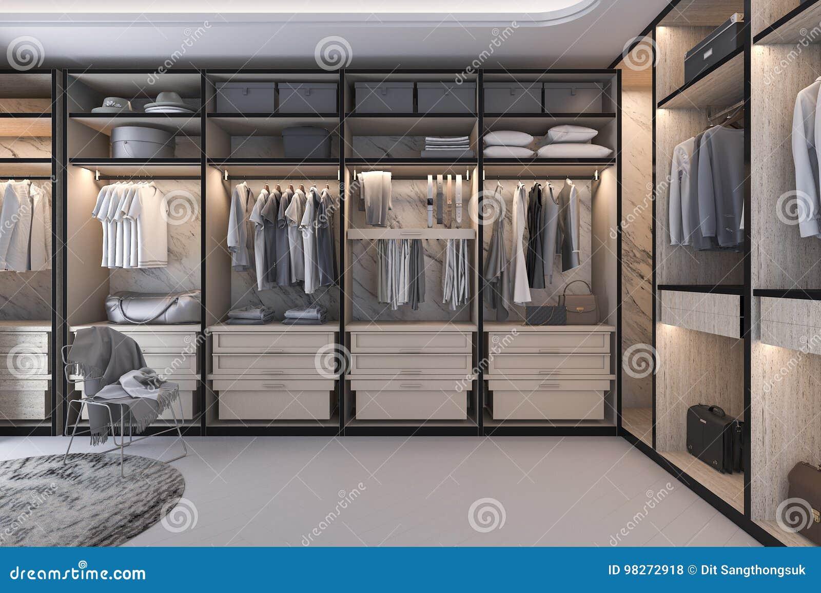 Walk Closet Intended 3d Rendering Minimal Loft Luxury Wood Walk In Closet With Wardrobe Rendering Minimal Loft Luxury Wood Walk In Closet With Wardrobe