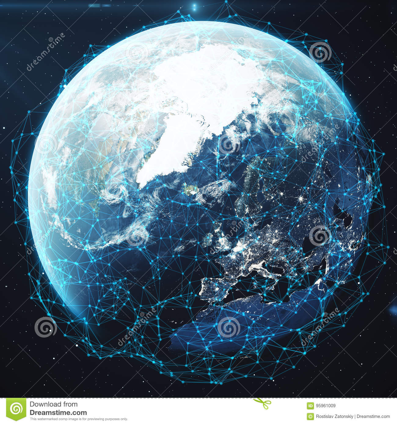 3D Rendering Network And Data Exchange Over Planet Earth In