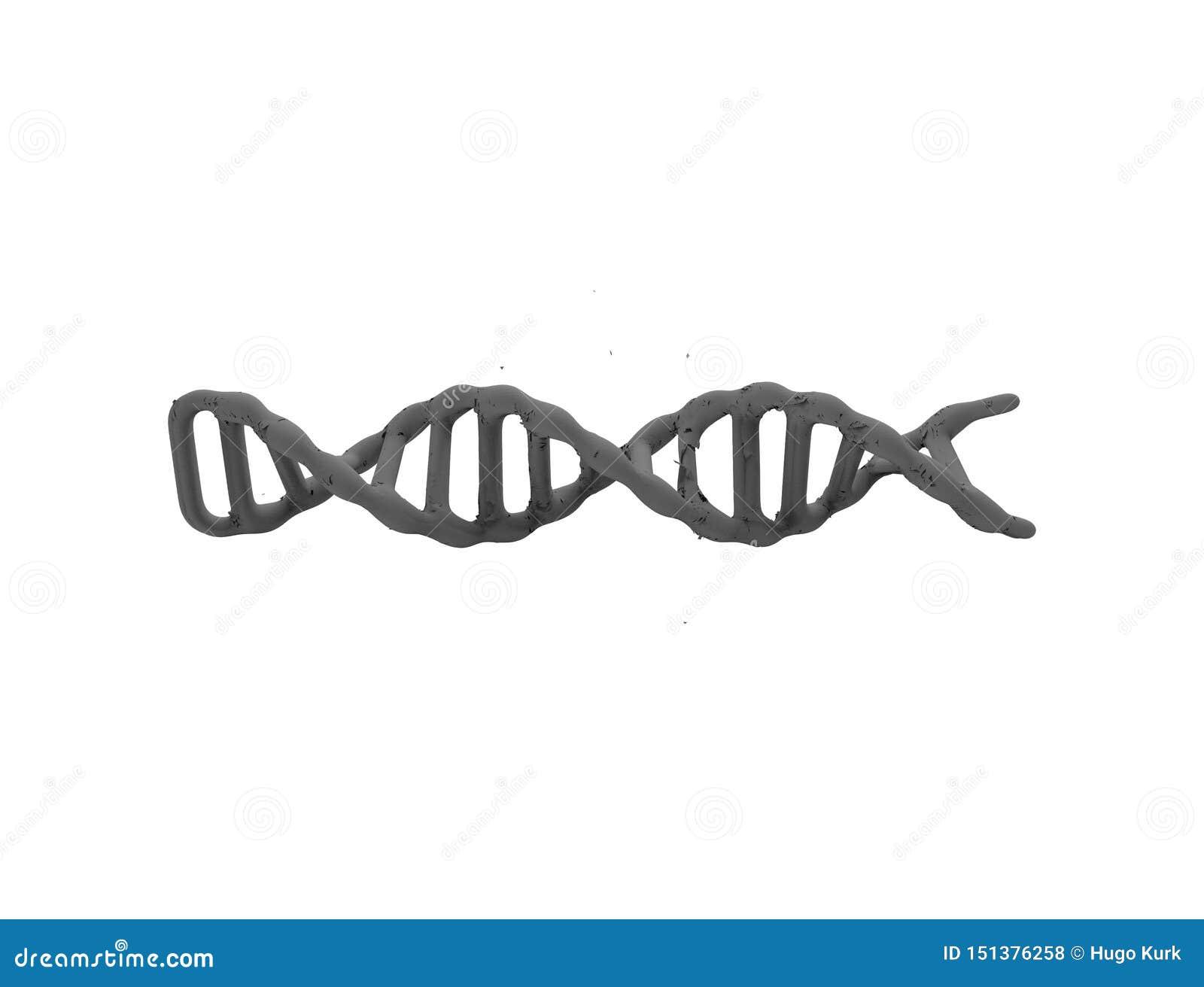 3d rendering odizolowywający w białym tle DNA sznurek