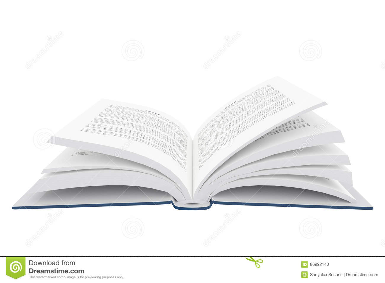3D Rendering Of An Open Book On White Background Royalty ...