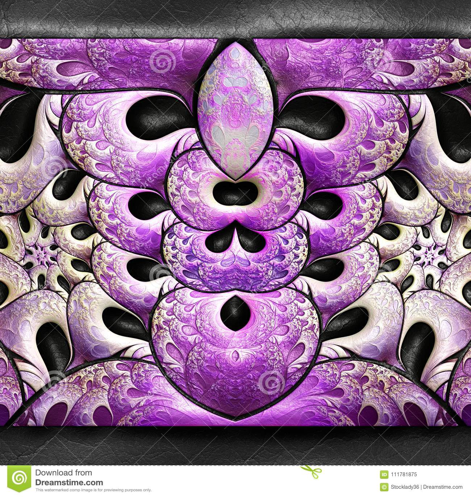 3D rendering plastikowy fractal na skórze