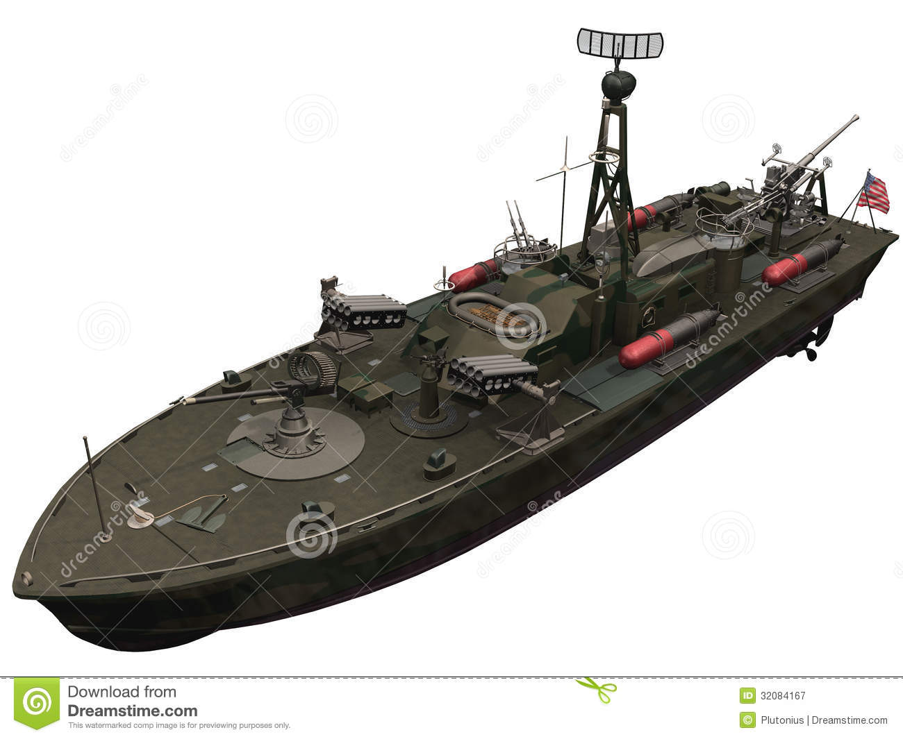 3d Rendering Of A PT Boat Royalty Free Stock Photography - Image ...