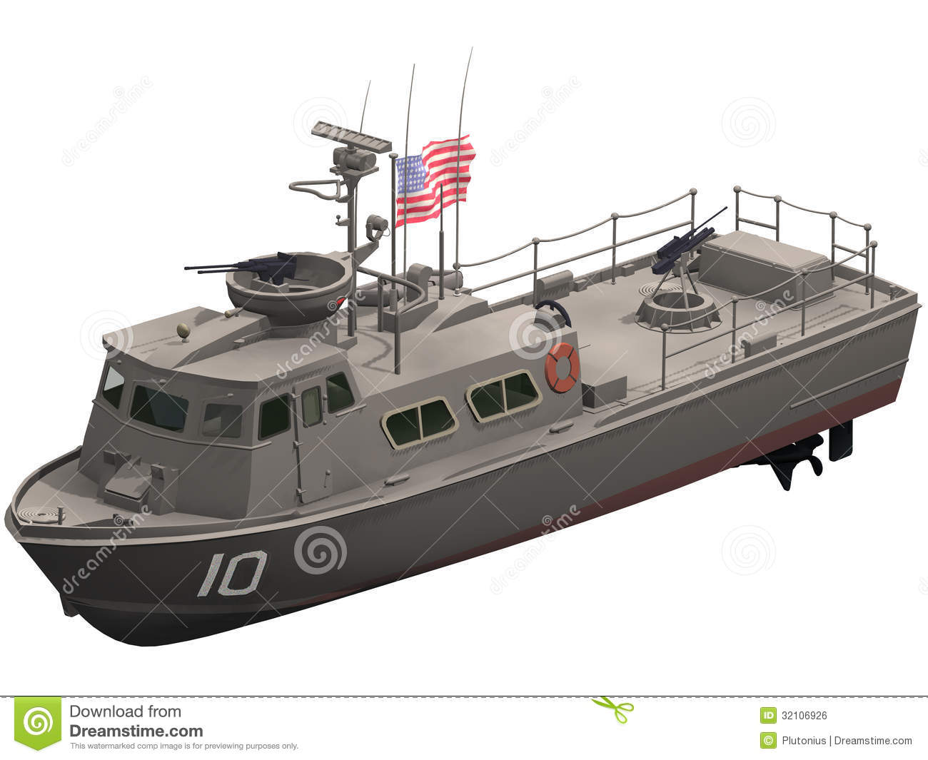 3d Rendering Of A Swift Patrol Boat Royalty Free Stock Image - Image: 32106926