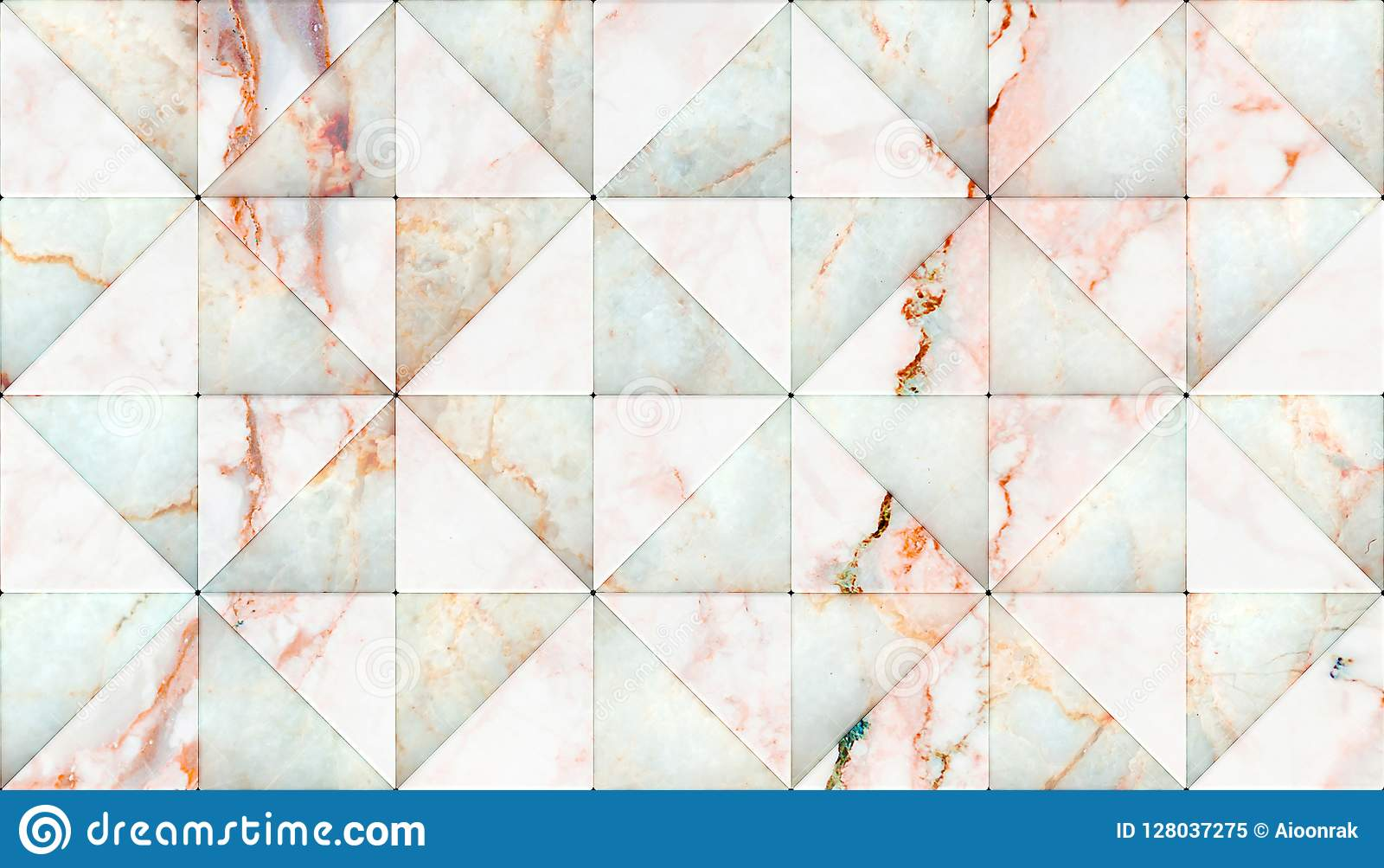 3D Rendering Of Triangle Shape Panels, Material White ...