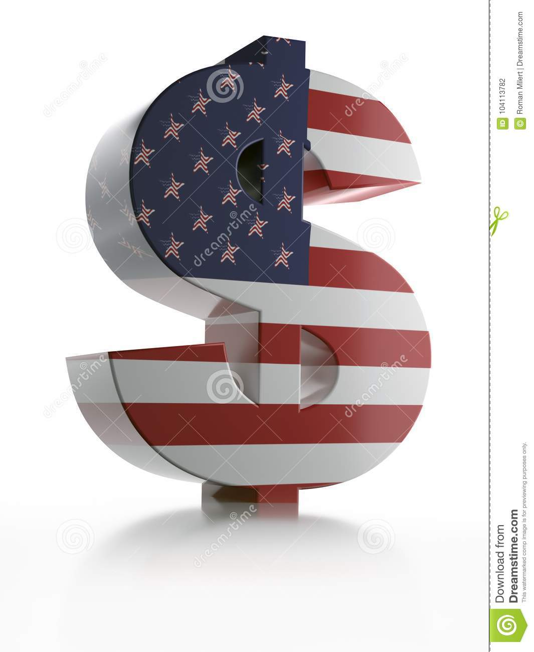 3d Usd Currency Symbol Stock Illustration Illustration Of Dollar