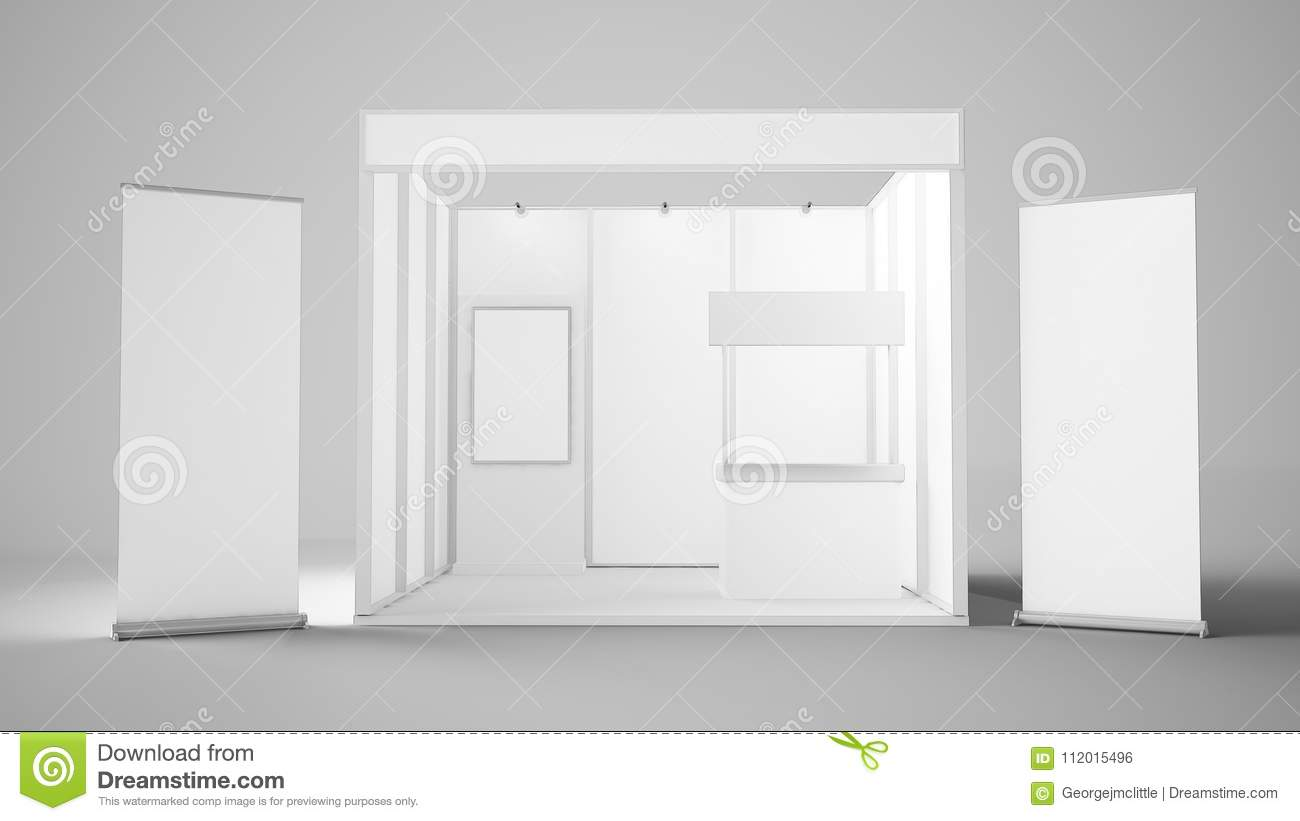 Exhibition Stand Reception Desk : White exhibition booth stock illustration illustration of room
