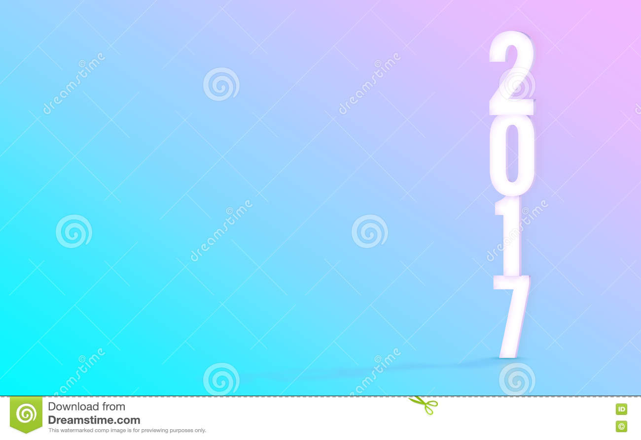 2017 3d rendering white number with material design color for Material design space
