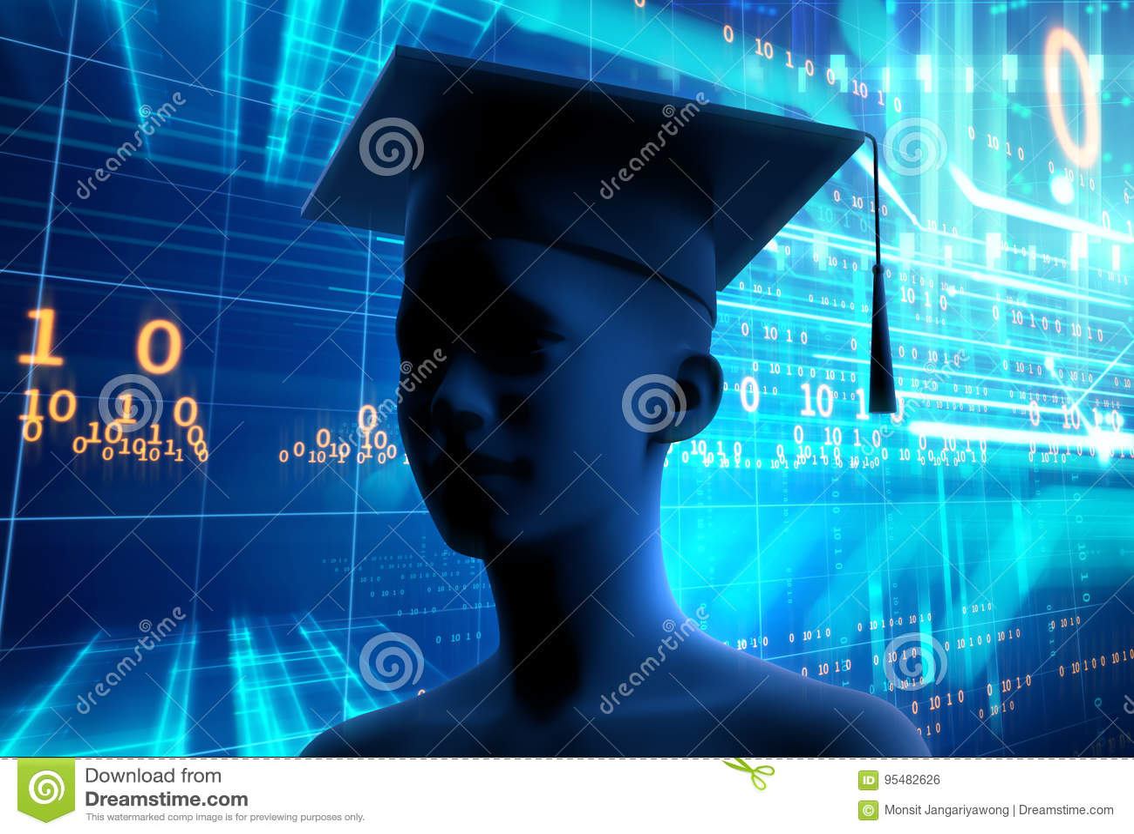 3d rendering wirtualna ludzka sylwetka na technologii backgroun