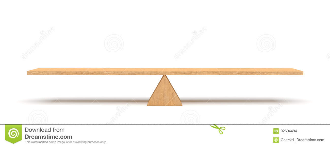 3d Rendering Of A Wooden Plank Balancing On A Wooden