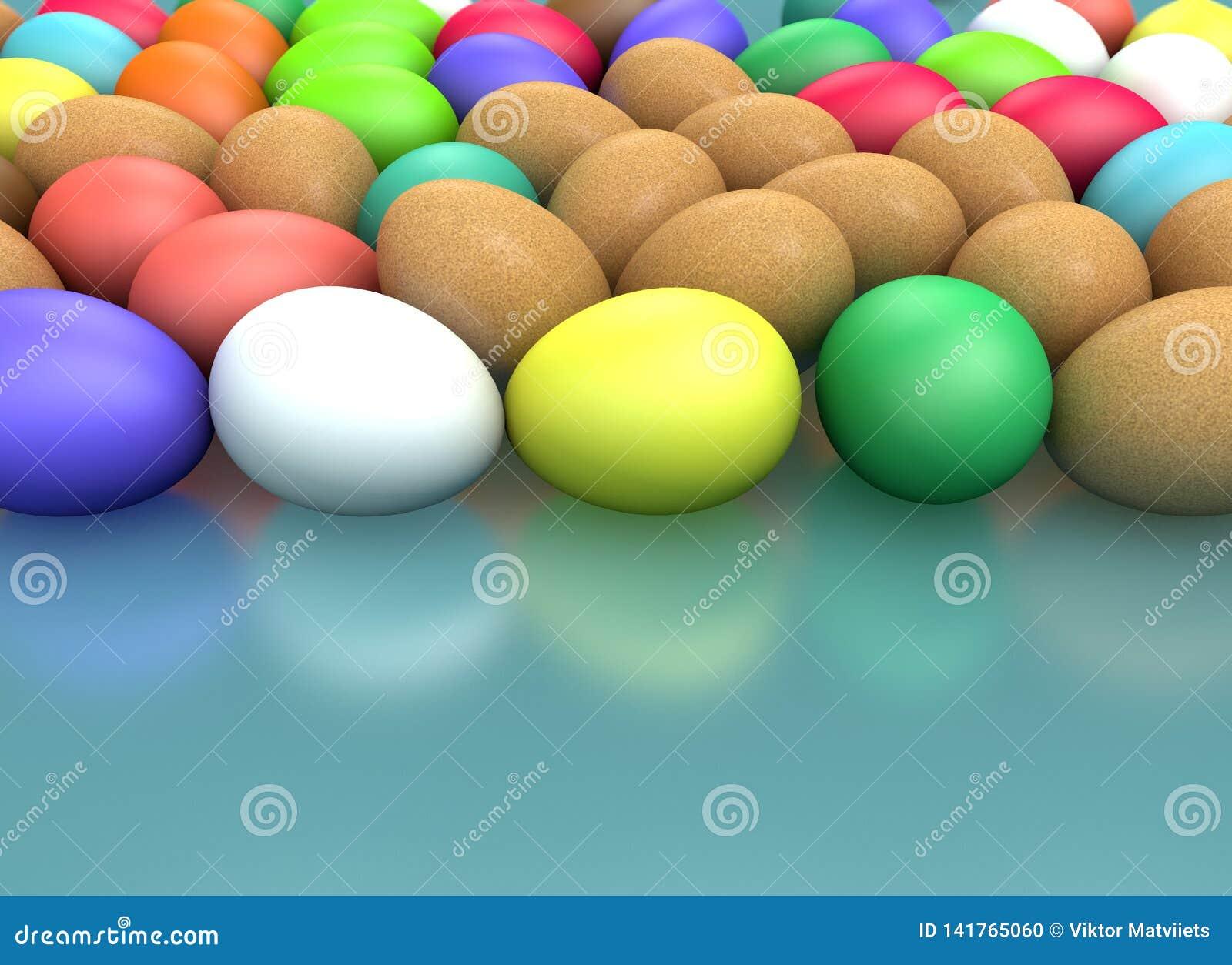 3d renderingu Wielkanocny wakacyjny skład, powitania pojęcie