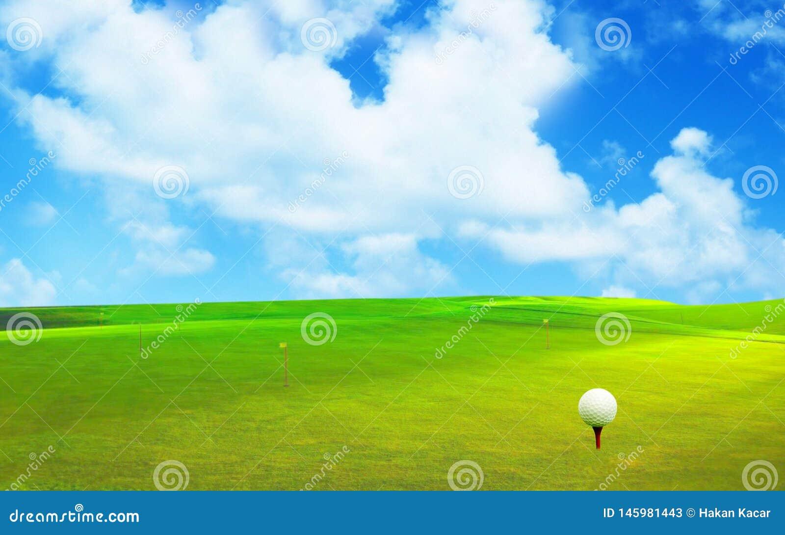 3D rendu, boule de golf,