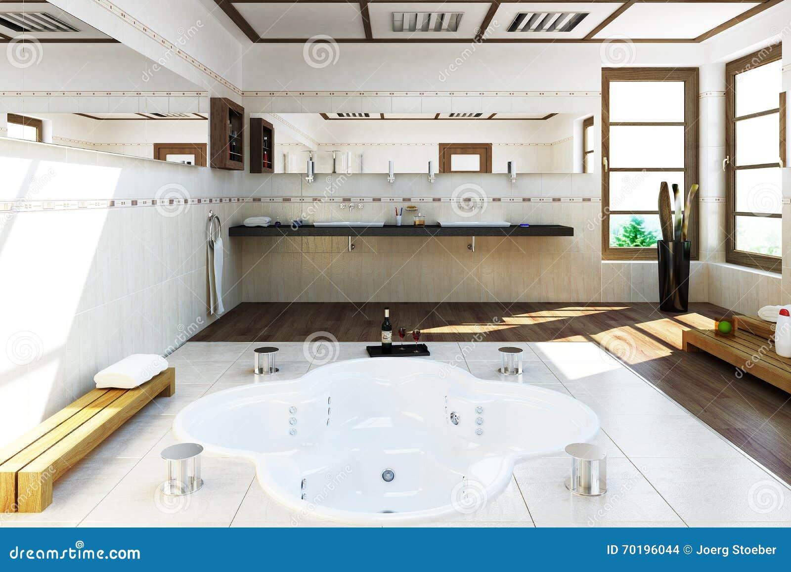 3D a rendu la pièce de bain