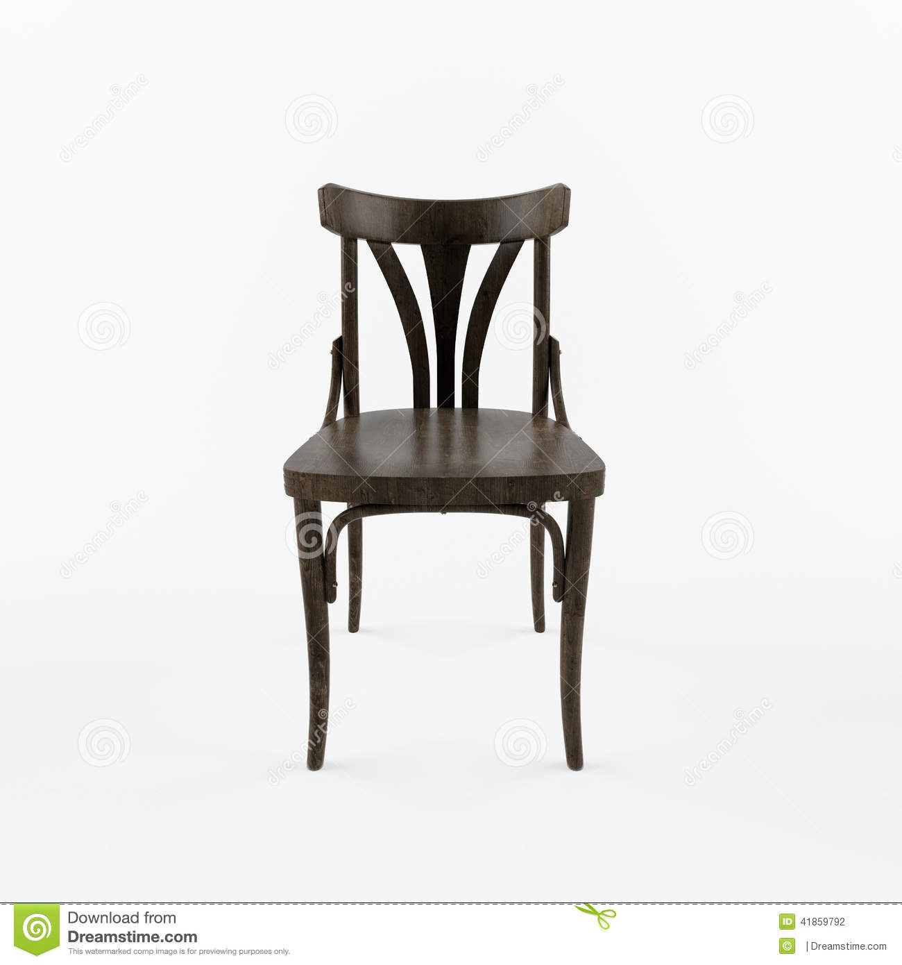 Wooden chair front view - 3 D Retro Chair Front View Wooden Chair Front View