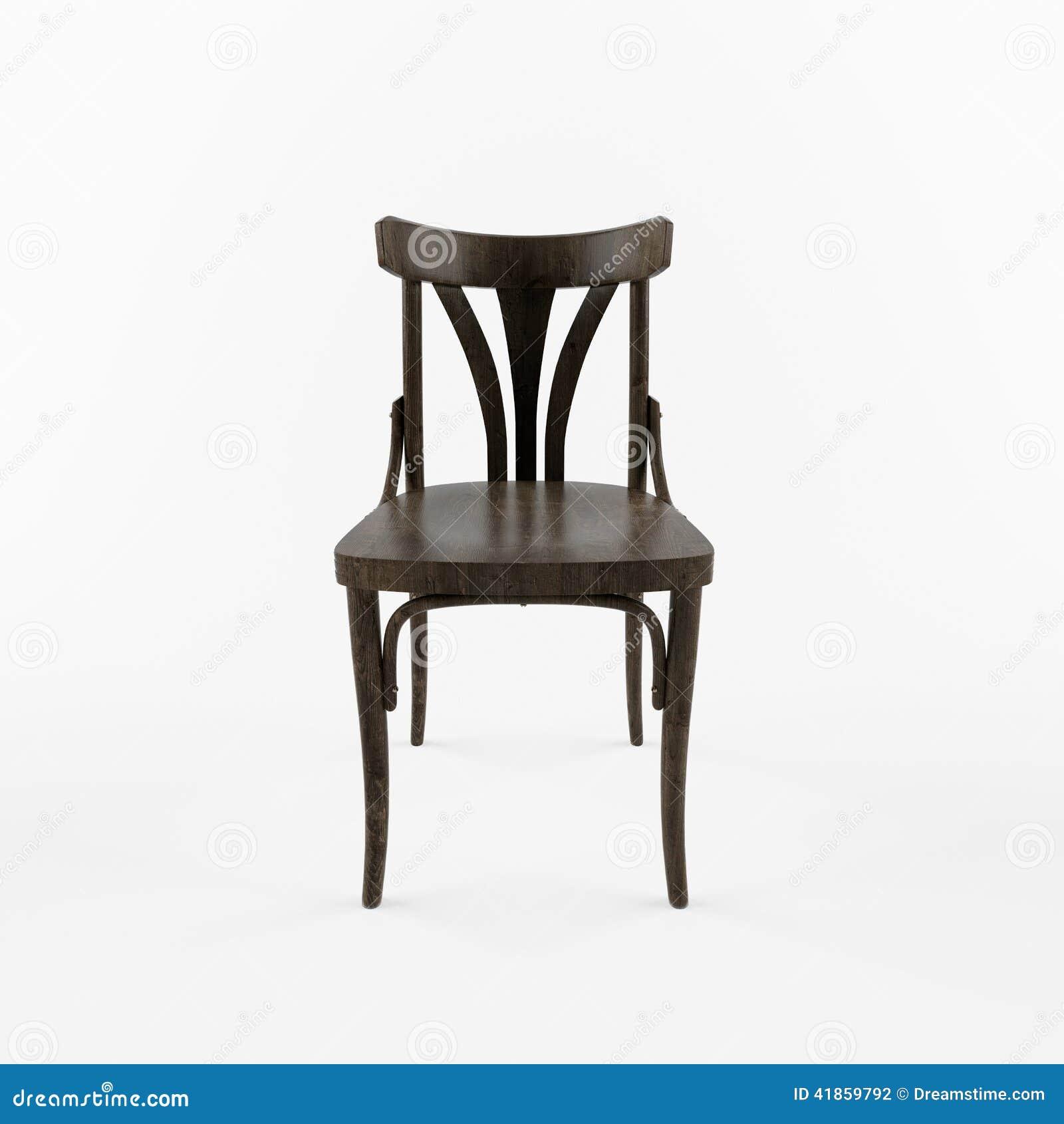 Merveilleux 3 D Retro Chair Front View