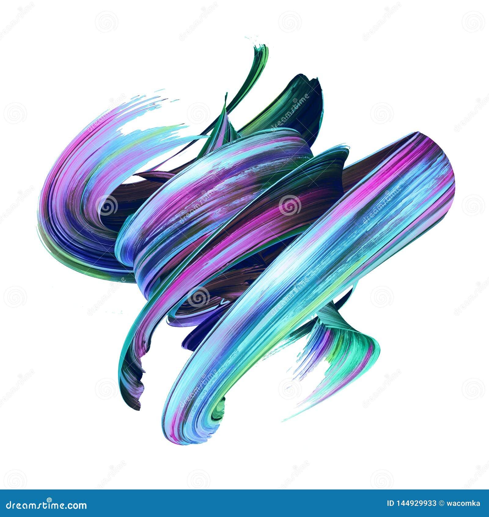 3d rinden, movimiento abstracto del cepillo, clip art creativo de la mancha, chapoteo de la pintura, salpicadura dinámica, rizo