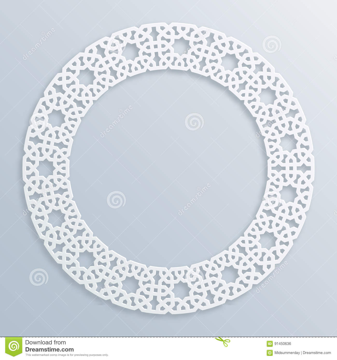 3d round white frame vignette islamic geometric border vector 3d round white frame vignette islamic geometric border vector muslim persian motif elegant oriental ornament stock vector illustration of ethnic thecheapjerseys Images