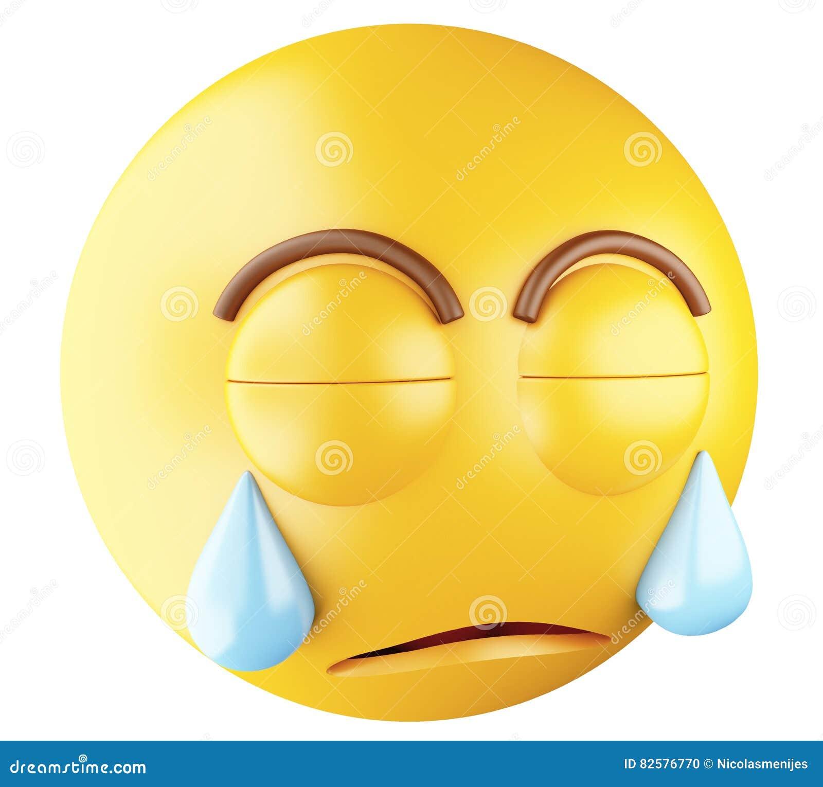 Download 3D Sad Emoji Crying Stock Illustration Of Facial