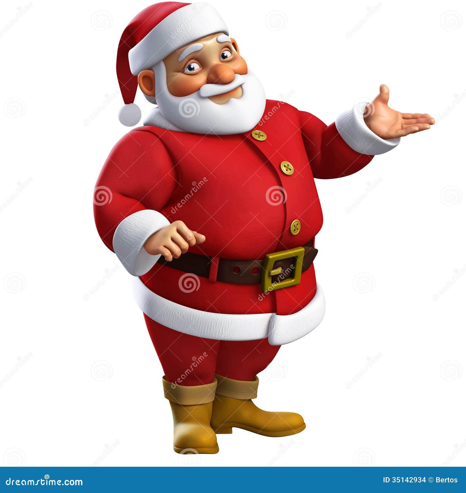 3d Santa kreskówka