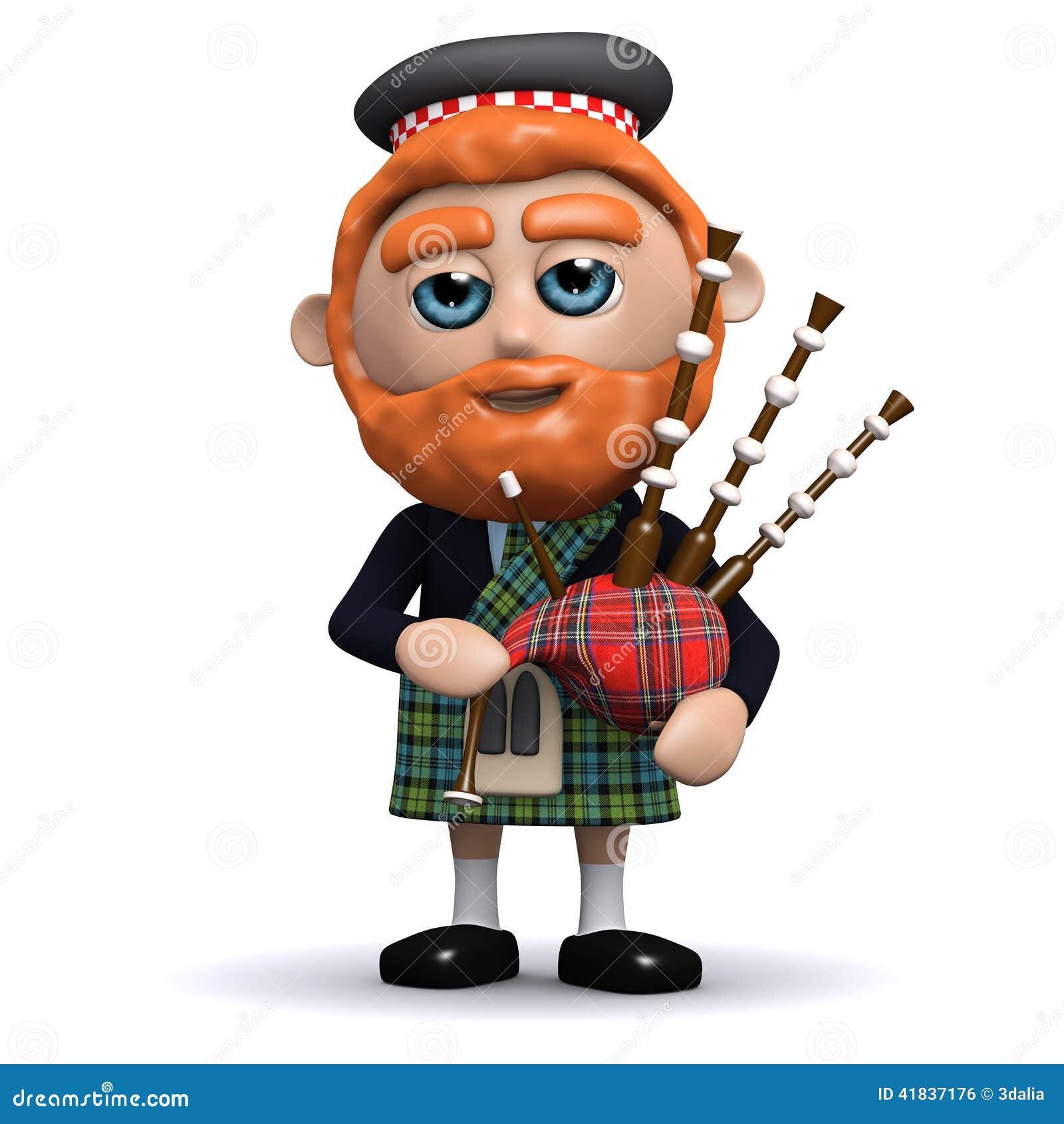 3d scotsman plays bagpipes stock illustration bagpipes clipart free bagpipe clip art free printable