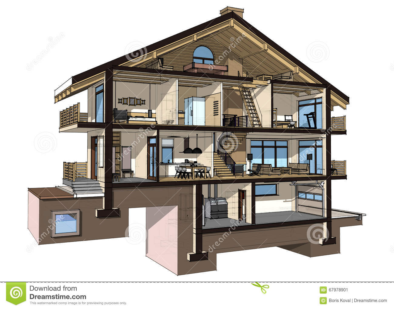 Engineering heating concept heating project of heating for Half basement house plans