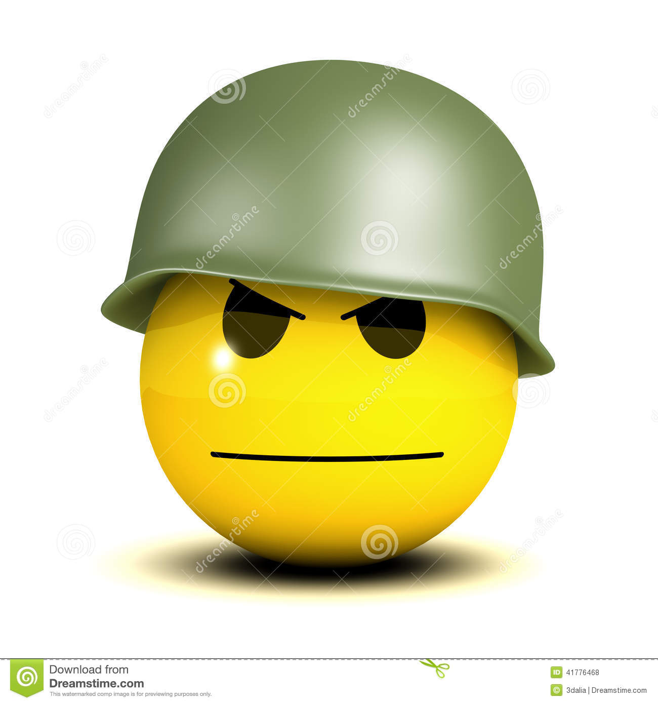 3d Serious smiley soldier stock illustration. Image of ...