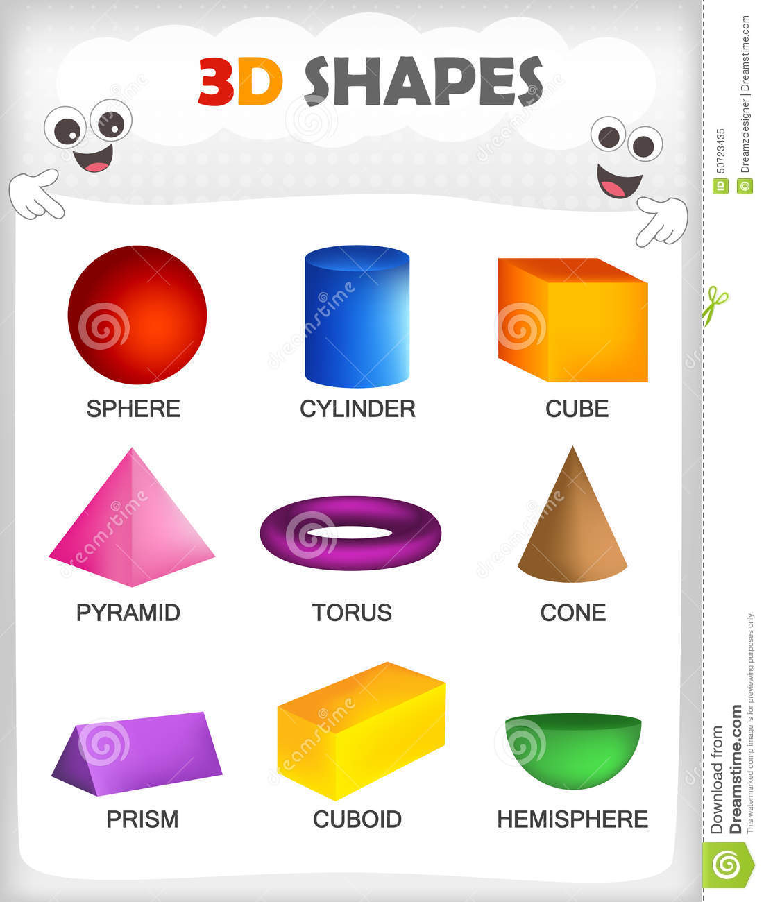 3D Shapes Stock Vector - Image: 50723435
