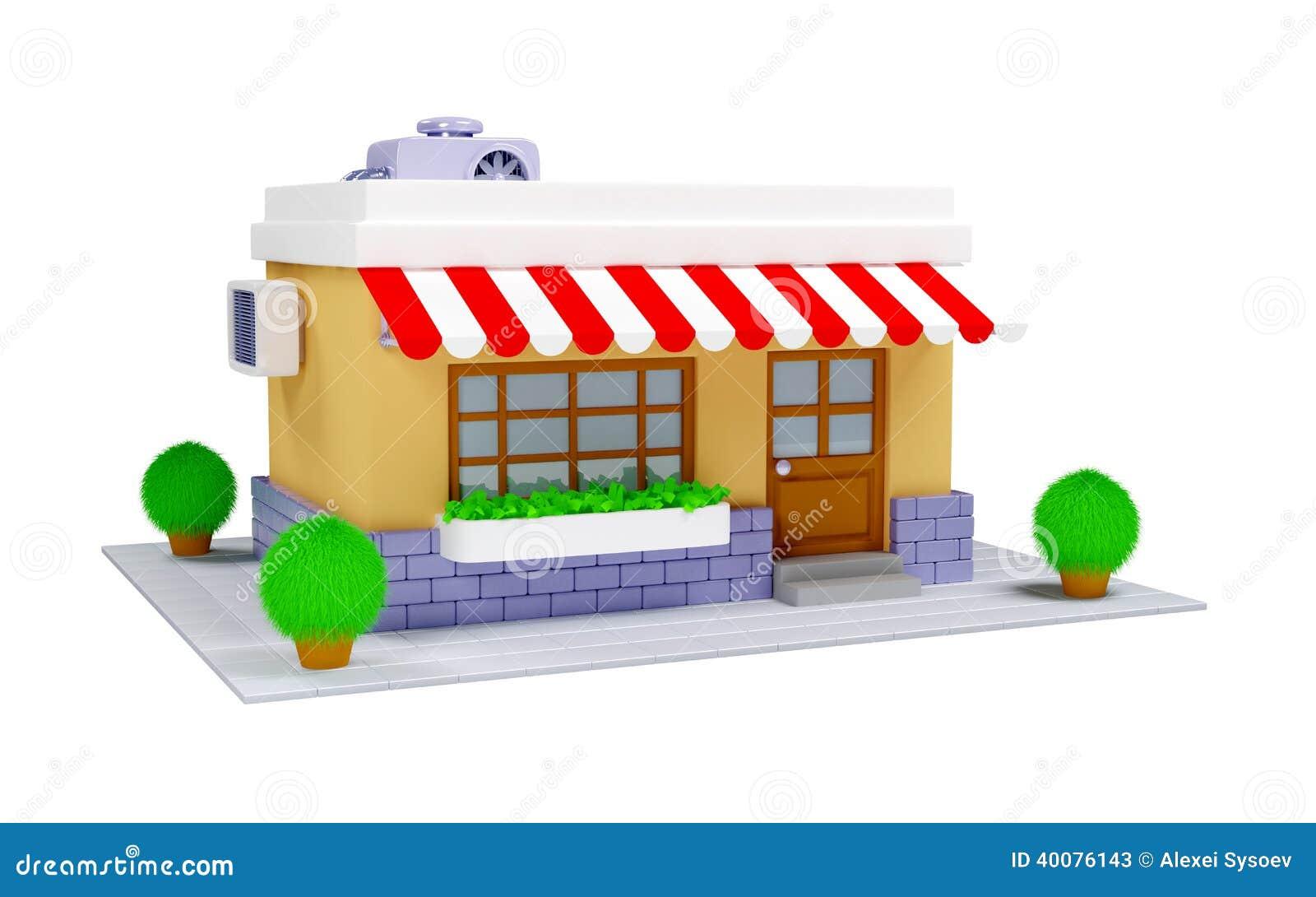 3d shop icon stock illustration illustration of for D sign shop