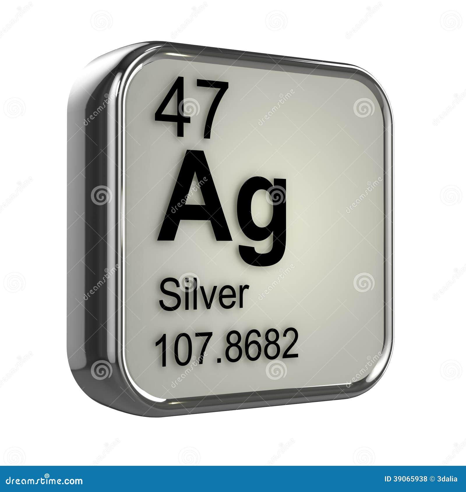 3d Silver Element Stock Illustration - Image: 39065938