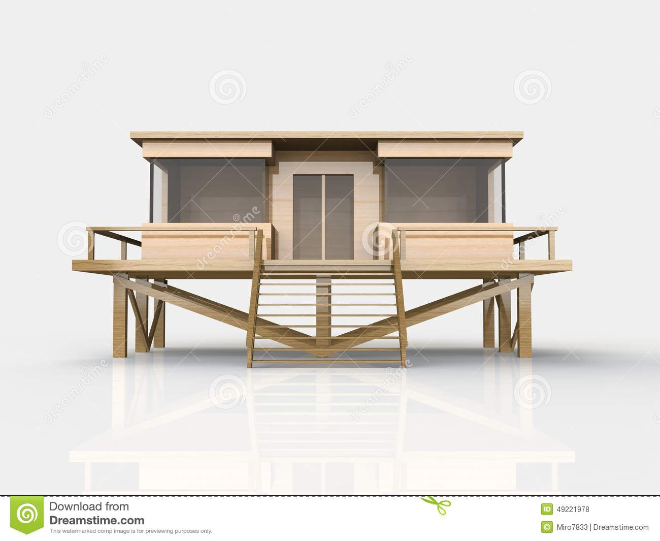 3d Simple House Model Stock Photo 49221978 Megapixl