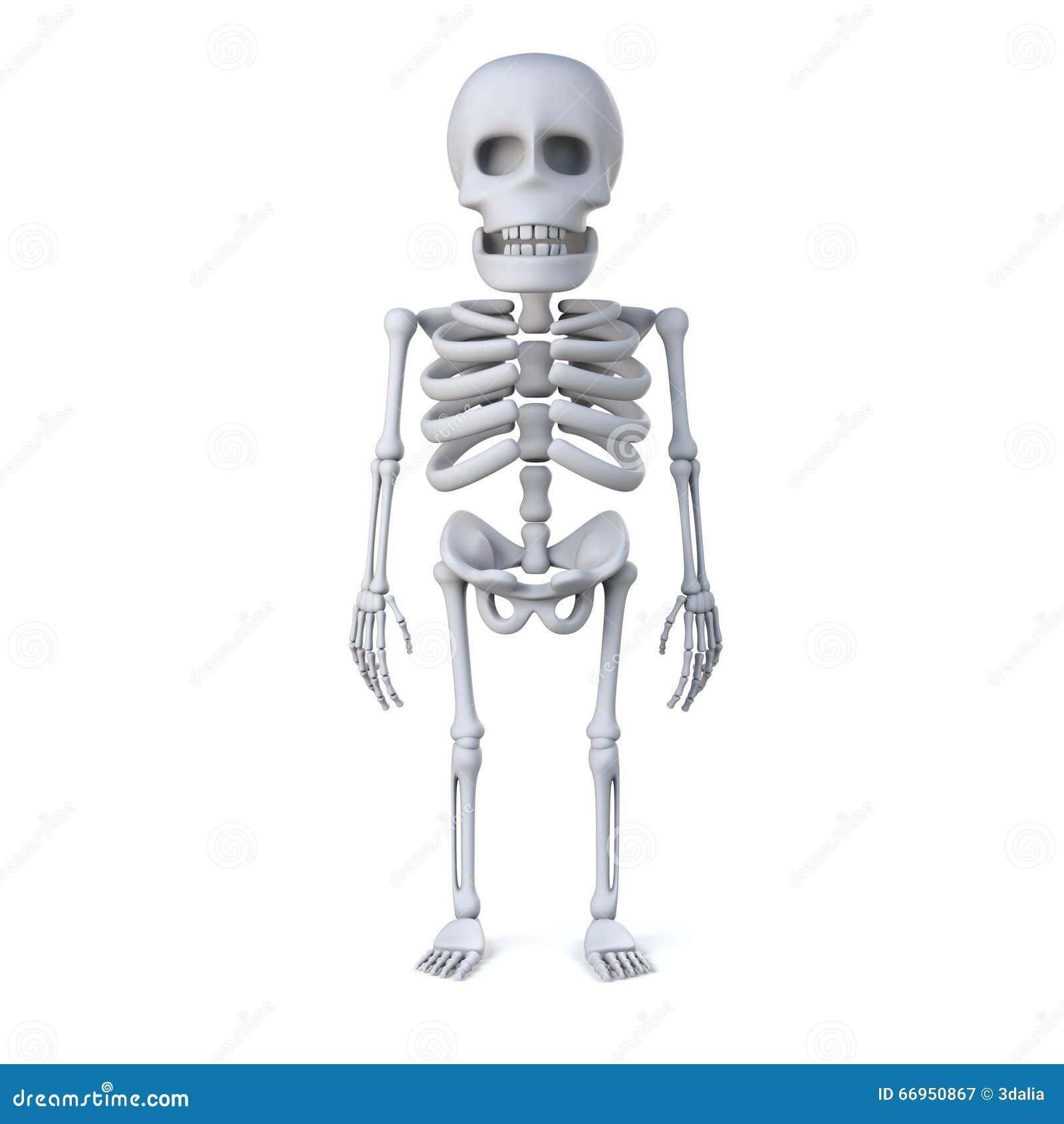 3d Skeleton Stands At Ease Stock Illustration - Image: 66950867