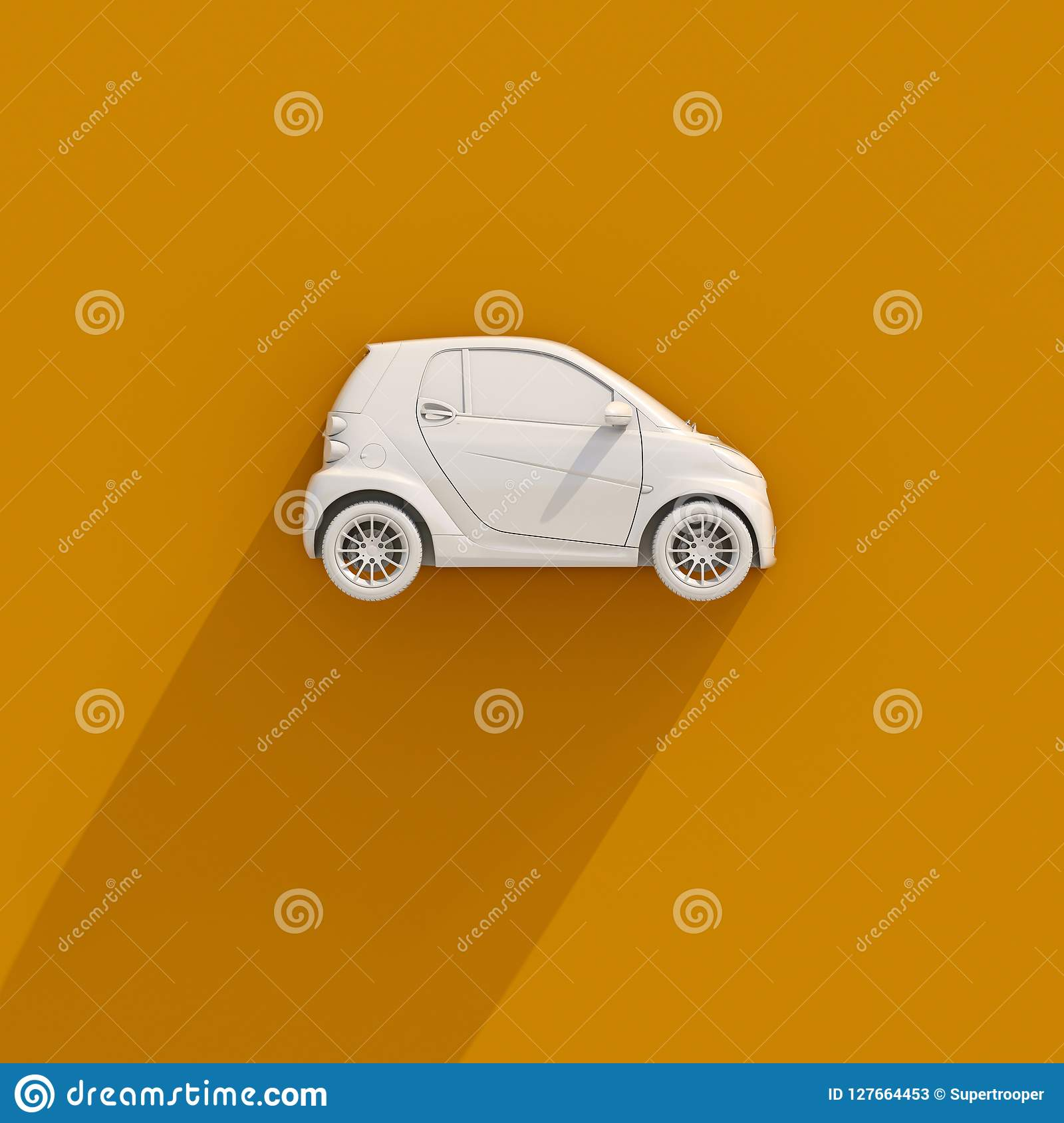 Small Compact Car Stock Illustration Illustration Of Power 127664453